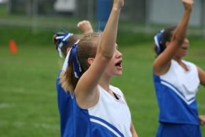 Cheerleaders Cheering at Game 5